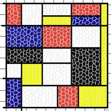 Essai Mosaïque d'aprés un tableau de Mondrian