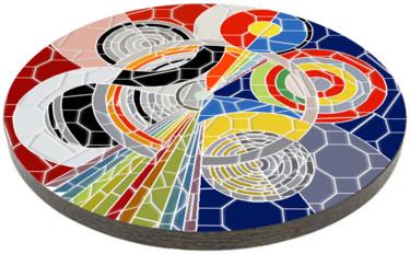 Plateau de table essai d'après Delaunay