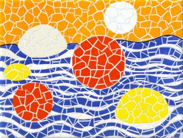 Vagues,essai mosaique d'après un tableau de Calder