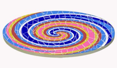 Plateau de table essai Spirale