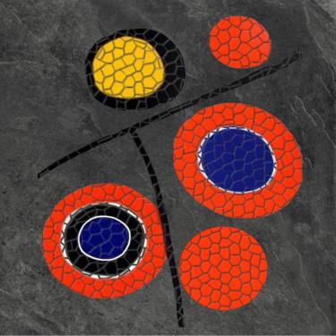 Essai Mosaïque sur grés cerame d'après un tableau de Calder